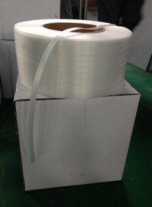 1×20′ polyester composite strapping was ready to ship out