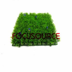Artificial Grass Turf-HY0947S 4 feet with blue flower  25X25CM GN001