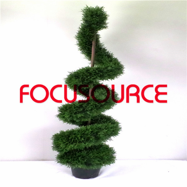 Artificial  Spiral Boxwood Tree-HY218-J3-H180-018 Featured Image