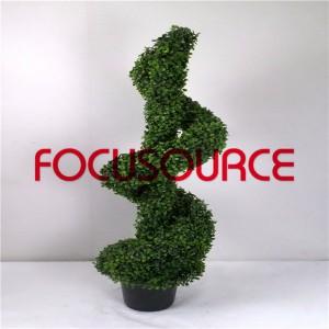 Artificial Boxwood Topiary Spiralni Tree -HY08103-J3-H120-022