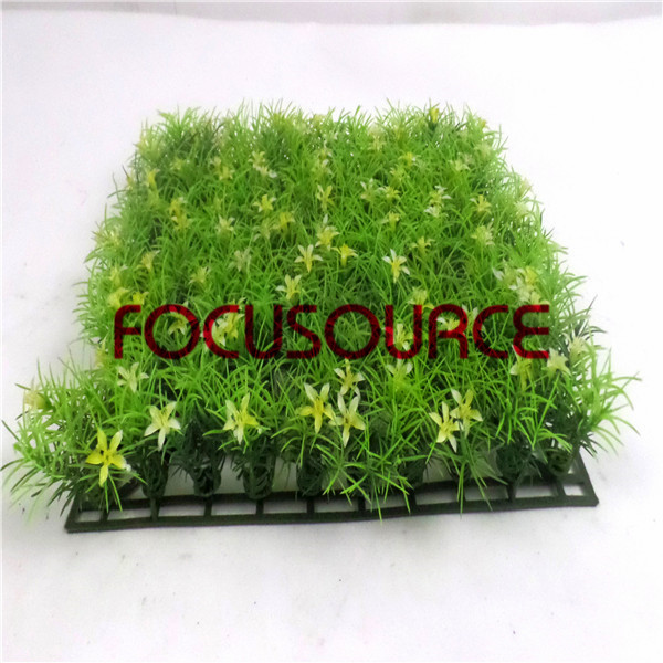 Artificial Grass Carpet -HY0948S   25X25CM GN001 with yellow flowers Featured Image