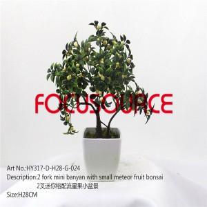 Artificial Mali Bonsai Tree-HY317-D-H28-G-024