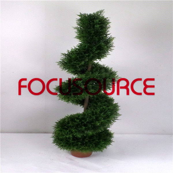 Artificial  Spiral Boxwood Tree-HY218-J3-H120-016 Featured Image