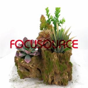 Artificial Succulent Plants Bonsai-SM009KM-O-018