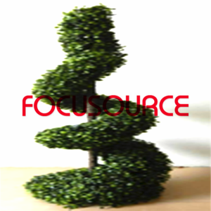 Artificial Boxwood Topiary Spiral Tree -HY08103-J3-H95-009