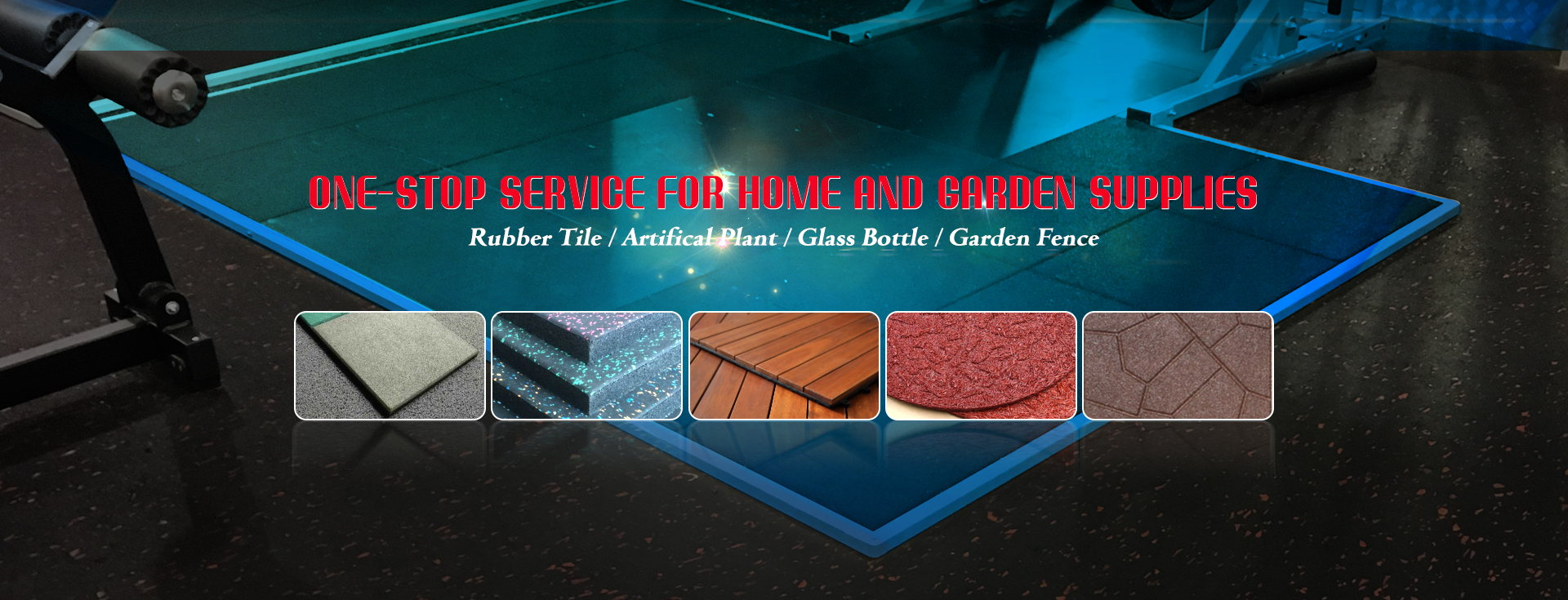Rubber Tile / Artifical Plant / Garden Fence