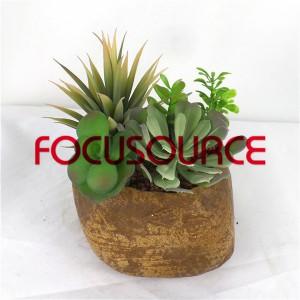 Artificial Succulent Plants Bonsai-SM007K-O-013