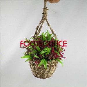 Artificial Hanging Basket Plant-HY192+HY205-H-18-037 GR3