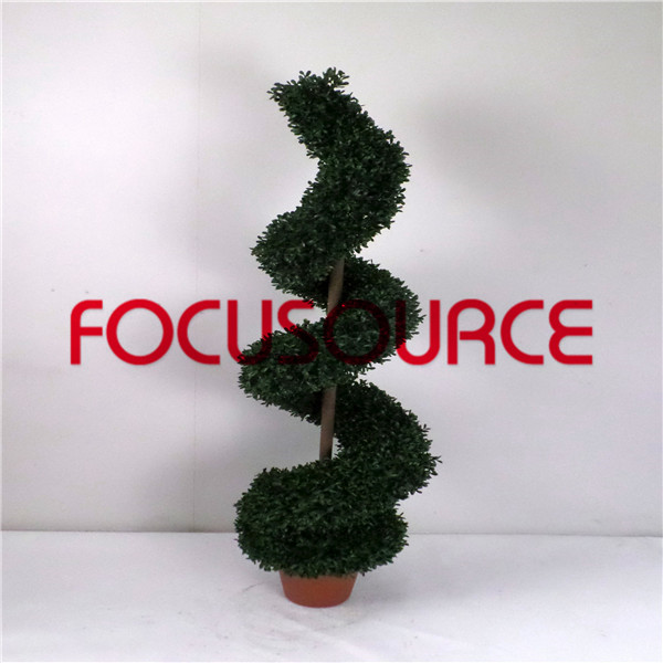 Artificial  Spiral Boxwood Tree-HY216-J3-H120-015 Featured Image