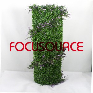 Artificial Topiary Grass Tower-HY245-J5-H140-H-036