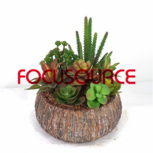 Artificial Succulent Biljke Bonsai-SM014KM-O-028
