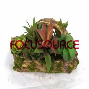 Artificial Succulent Plants Bonsai-SM005KM-O-010