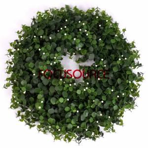 Kënschtlech wer zu Fouss Dekoratioun Wreaths -HY117-50cm