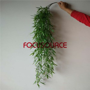 Artificial Hanging Leaf For Wall Decor-HY235-L7-H130-049