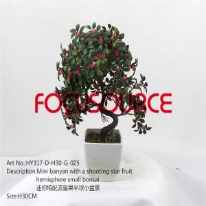 Artificial Small Bonsai Tree-HY317-D-H30-G-025