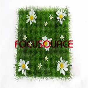 Artifical Grass Carpet -100head tare da flower