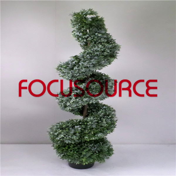 Artificial  Spiral Boxwood Tree-HY196-J3-H150-010 Featured Image