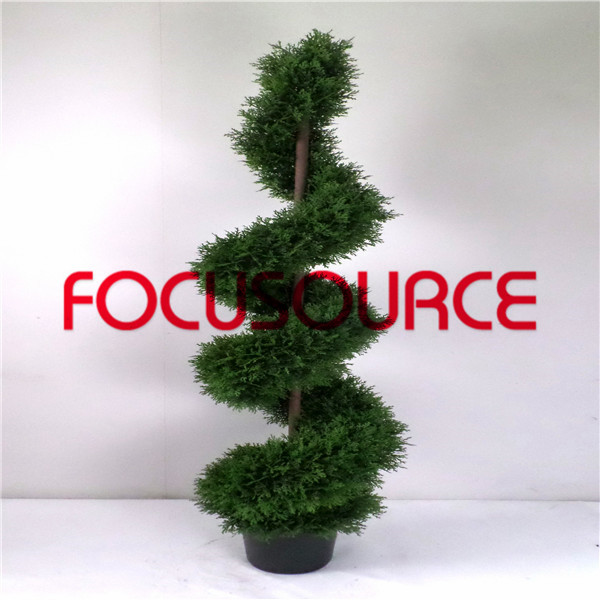 Artificial  Spiral Boxwood Tree-HY218-J3-H150-017 Featured Image