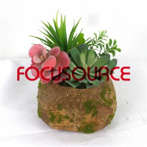 Artificial Succulent Plants Bonsai-SM007KM-O-014