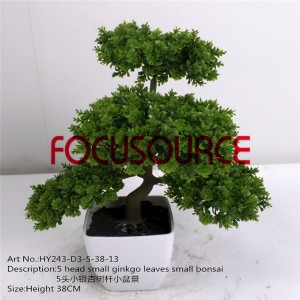 Artificial Small Bonsai Tree-HY243-D3-5-38-013