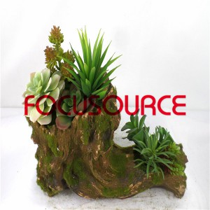 Artificial Succulent Plants Bonsai-SM010KM-O-020