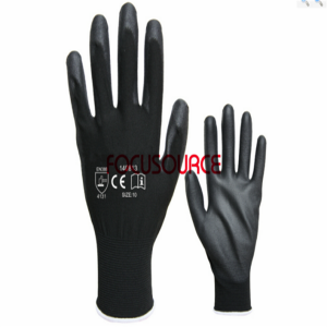 13 Gauge Polyester With Pu Coated Glove-P1301