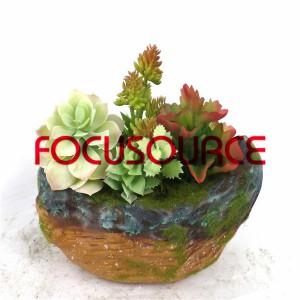 Artificial Succulent Plants Bonsai-SM004KM-O-008