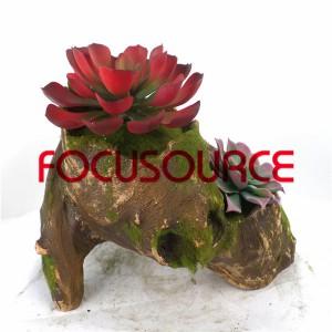 Artificial Succulent Plants Bonsai-SM011KM-O-022