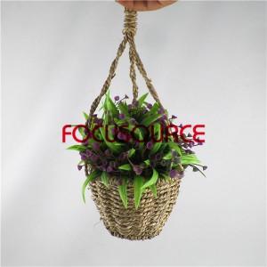 Artificial Hanging Basket Plant-HY192+HY205-H-18-037  PR2