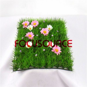 Artificial Grass Turf -HY124  100 heads with flower
