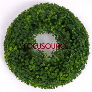 Artificial Grass Wreaths-HY208-32cm