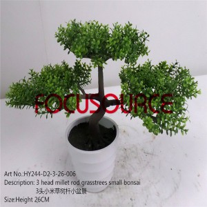 Artificial Small Bonsai Tree-HY244-D2-3-26-006