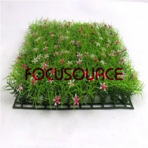 Artificial Grass Carpet -HY0948S 25X25CM GN001 với hoa đỏ