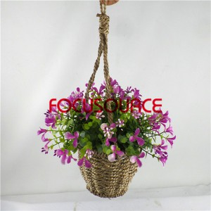 Artificial Hanging Basket Plant-HY143-H-19-HG-040 RD8