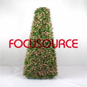 Artificial Grass Tower With Flower-HY295-J1-H120-021