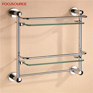 Double Glass Shelf With Bar-3513