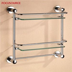 Double Glass Shelf With Bar-3513