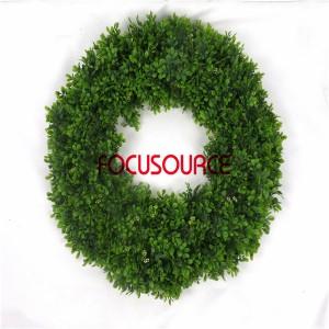 Artificial Grass Wreaths-HY237-B-Φ63-G-094