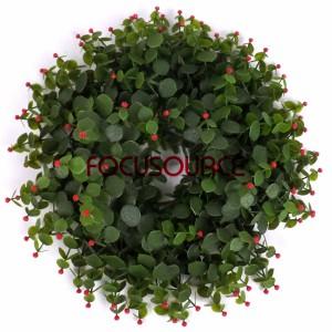 Kënschtlech wer zu Fouss Dekoratioun Wreaths -HY117-35cm