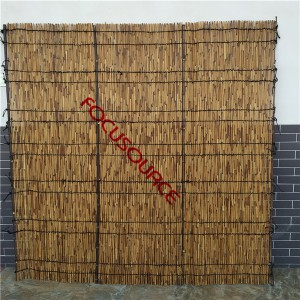 Carbonized Reed Fence