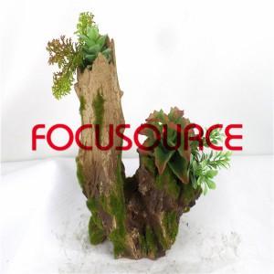 Artificial Succulent Plants Bonsai-SM001KM-O-002