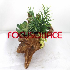 Artificial Succulent Plants Bonsai-SM008K-O-015