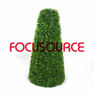 Artificial Boxwood Topiary Grass Tower-HY181-J2-H95-017
