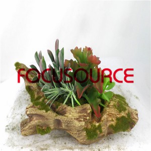 Artificial Succulent Biljke Bonsai-SM021KM-O-042