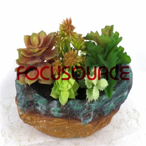 Piante succulente artificiali Bonsai-SM004K-O-007