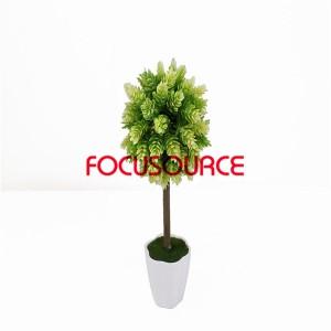 Artificial Grass Ball Bonsai-H30cm 16cm Pine Bonsai