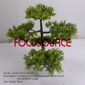 Artificial Small Bonsai Tree-HY244-D3-5-38-005
