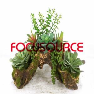 Artificial Succulent Plants Bonsai-SM006KM-O-012