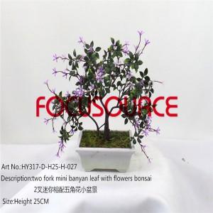 Artificial Mali Bonsai Tree-HY317-D-H25-H-027
