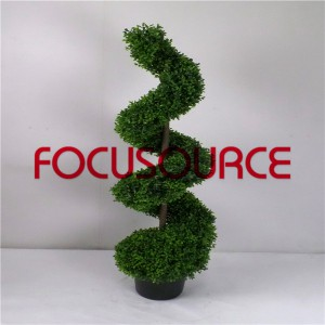 Artificial Spiral Boxwood Tree-HY216-J3-H120-012